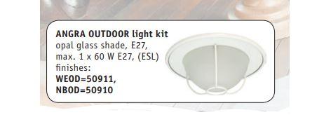 Dodatni pribor - rasvjeta Angra za stropni ventilator Casa Fan Hunter Outdoor E27, max. 60 W IP44