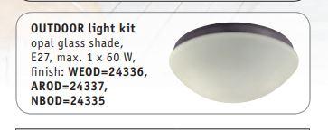 Dodatni pribor - rasvjeta za stropni ventilator Casa Fan Hunter Outdoor E27, max. 60 W