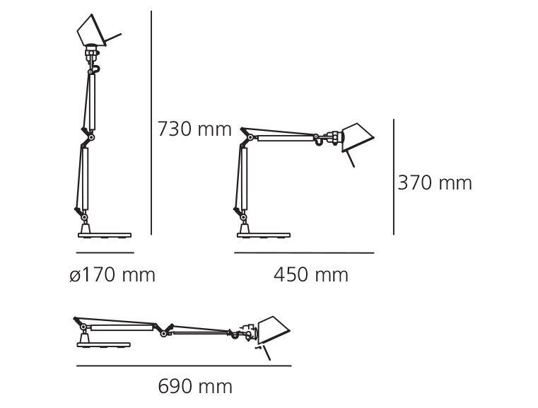 Stolna lampa Artemide Tolomeo Micro