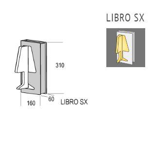 Zidna lampa Kreadesign Libro SX LED