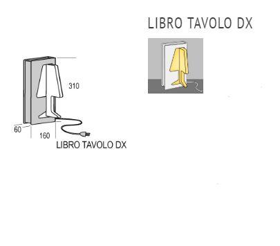 Stolna lampa Kreadesign Libro Tavolo DX LED