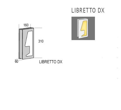 Zidna lampa Kreadesign Libretto DX LED