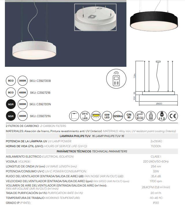 Luster ACB ISIA LED sa UV-C sterilizatorom zraka