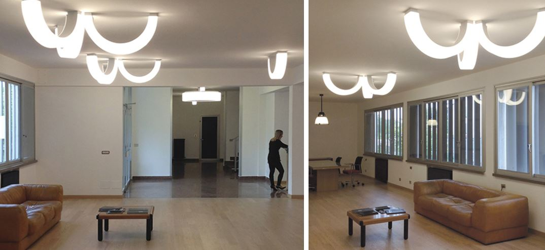 Stropna ili zidna lampa Norlight Half 500 LED 20W