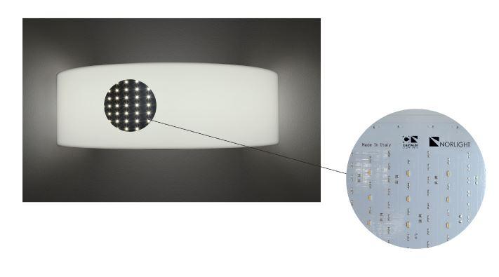 Stropna ili zidna lampa Norlight Half 800 LED 40W