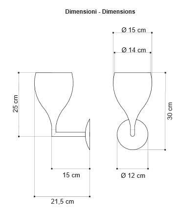 Zidna lampa Egoluce LED Baloon 4525