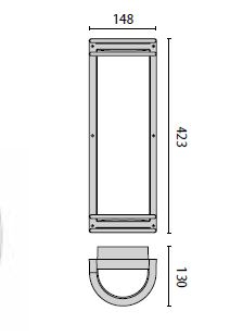 Zidna ili stropna lampa Prisma NIKKO +45