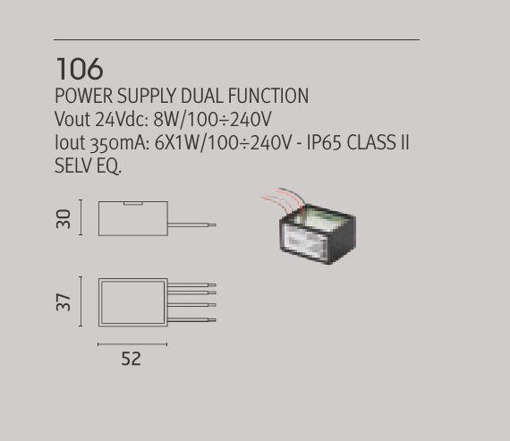 Led napajanje 6W IP 65 Ares 106