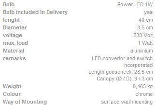 Zidna lampa SLV Big White Dio flex plate1x 1W, 3000K LED 146682