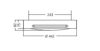 Fluo stropna lampa OMS TUBUS CIRCULAR PRISMA PC FC 2GX13 1x55W, ECG, RAL 9003