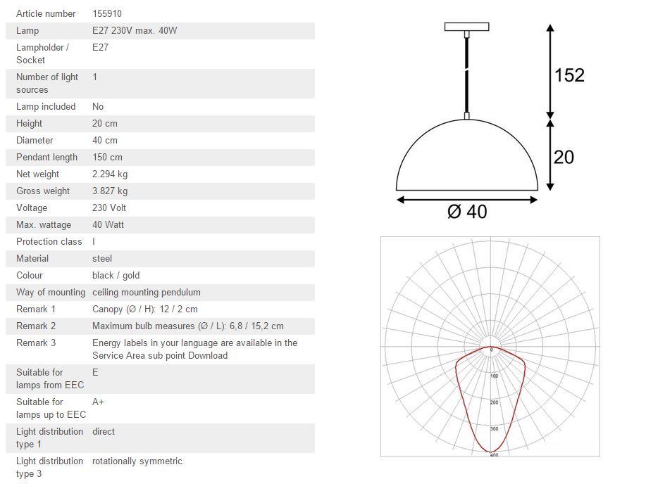 Luster SLV Big White FORCHINI M PD-2 E27, max. 40W 155910
