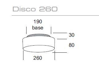 Vanjska stropna ili zidna lampa Kreadesign Disco 260 IP65  231