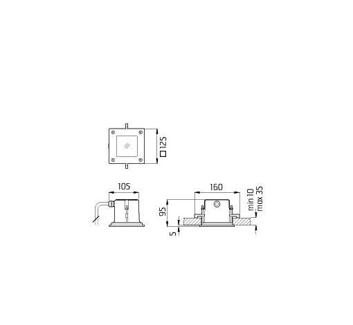 Stropna lampa Ares Ara IP 65 10328134 pjeskareno staklo