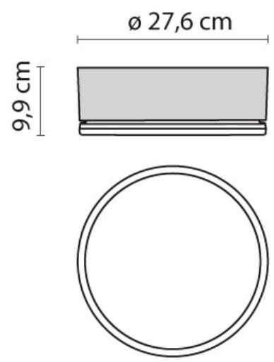 Zidna ili stropna lampa Prisma Drop 28  Ø 27,6